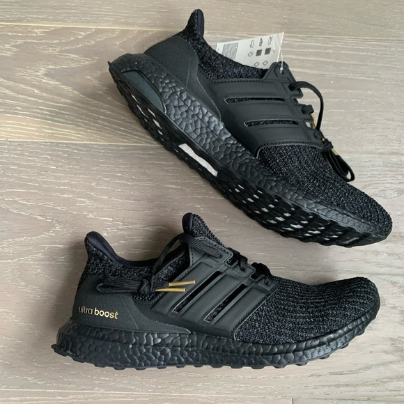 Adidas Ultra Boost 4 Triple Black Gold
